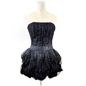 Vintage Jessica McClintock Black Formal Dress 3